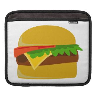 Cheeseburger cartoon iPad sleeve