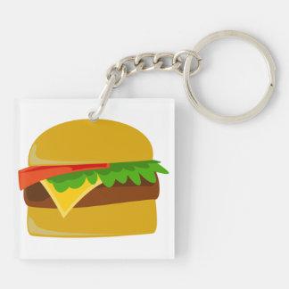 Cheeseburger cartoon keychain
