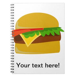 Cheeseburger cartoon notebook