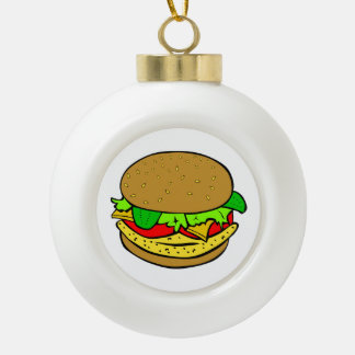 Cheeseburger cartoon ornaments