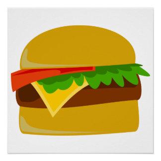 Cheeseburger cartoon poster