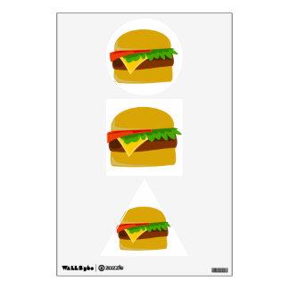 Cheeseburger cartoon wall sticker