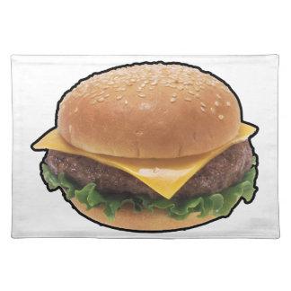 Cheeseburger Cloth Placemat
