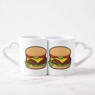 Cheeseburger Coffee Mug Set