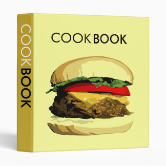 cheeseburger cookbook binder