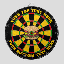 Cheeseburger Dartboard with Custom Text