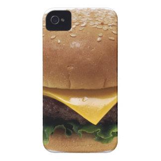 Cheeseburger de la comida del almuerzo del Case-Mate iPhone 4 protectores