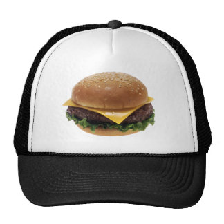 Cheeseburger de la comida del almuerzo del gorras
