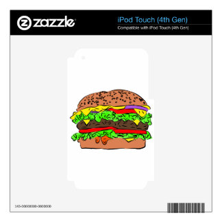 Cheeseburger Decals For iPod Touch 4G