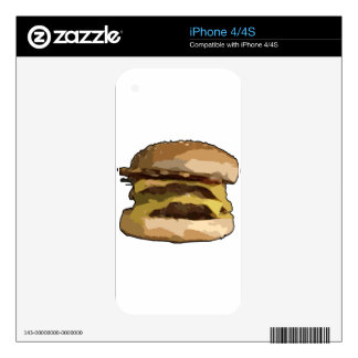 Cheeseburger Decals For The iPhone 4
