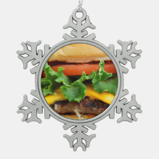 Cheeseburger del tocino adornos