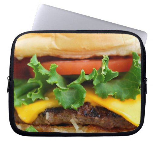 Cheeseburger del tocino fundas computadoras