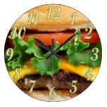 Cheeseburger del tocino relojes