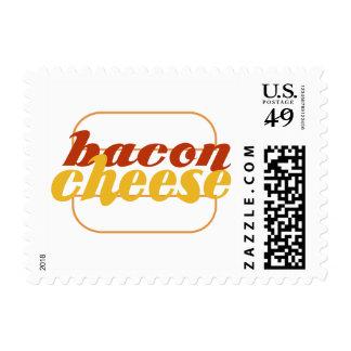 Cheeseburger del tocino sellos