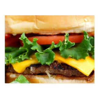 Cheeseburger del tocino tarjetas postales