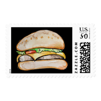 Cheeseburger deluxe postage