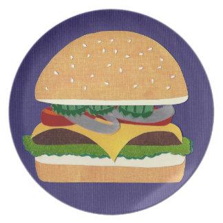 Cheeseburger Dinner Plate