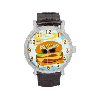 Cheeseburger divino relojes de pulsera