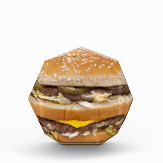 Cheeseburger double fast food acrylic award