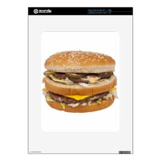 Cheeseburger double fast food iPad decals