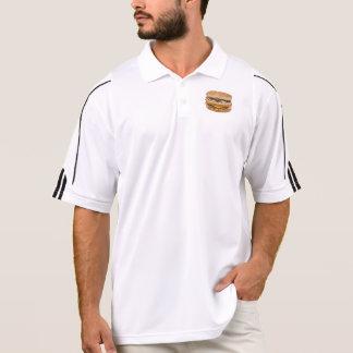 Cheeseburger double fast food polo shirt