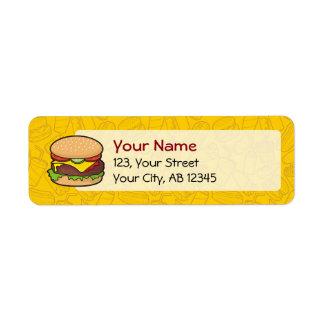 Cheeseburger Etiqueta De Remitente