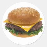 Cheeseburger Etiqueta Redonda