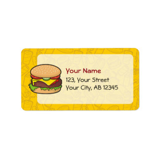 Cheeseburger Etiquetas De Dirección