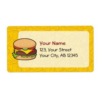 Cheeseburger Etiquetas De Envío