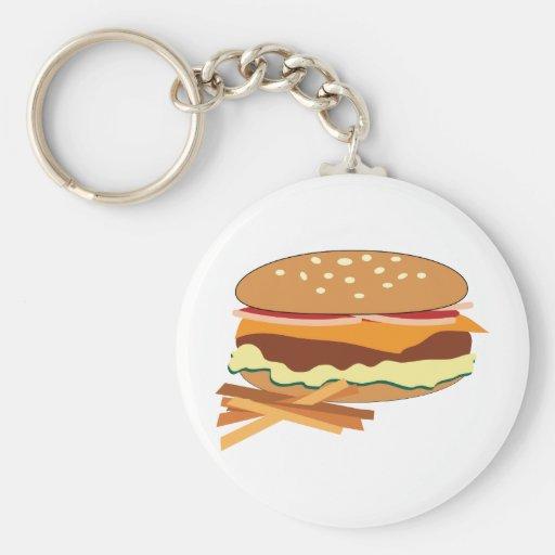 Cheeseburger & Fries Keychains