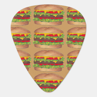 Cheeseburger Hamburger Fast Food Burger Foodie Guitar Pick