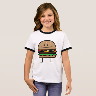 Cheeseburger Hamburger ground meat Beef cheese bun Ringer T-Shirt