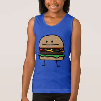 Cheeseburger Hamburger ground meat Beef cheese bun Tank Top