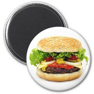 Cheeseburger Imán Redondo 5 Cm