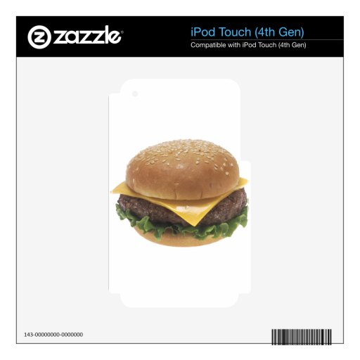 Cheeseburger iPod Touch 4G Calcomanías