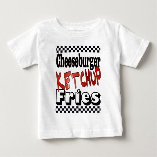 Cheeseburger Ketchup Fries Baby T-Shirt