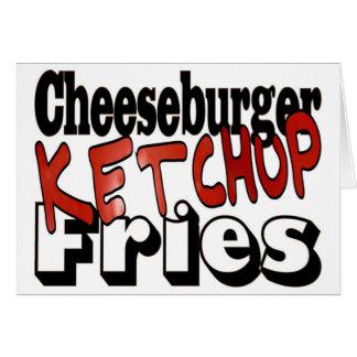 Cheeseburger Ketchup Fries Greeting Card