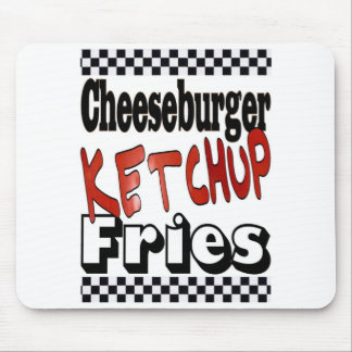Cheeseburger Ketchup Fries Mouse Pad