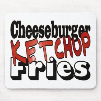 Cheeseburger Ketchup Fries Mouse Pad