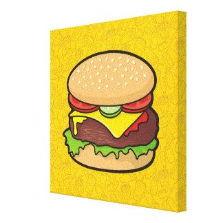 Cheeseburger Lienzo Envuelto Para Galerias