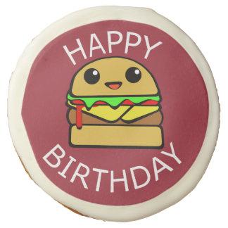 Cheeseburger lindo del feliz cumpleaños