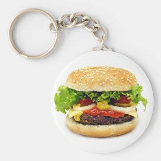 Cheeseburger Llavero Redondo Tipo Pin