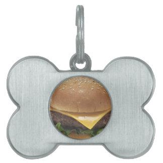 Cheeseburger Placas De Nombre De Mascota