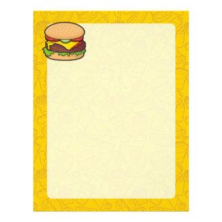 Cheeseburger Membrete A Diseño