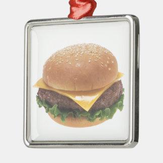 Cheeseburger Metal Ornament