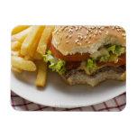 Cheeseburger, mordeduras tomadas, con los micropro imán de vinilo