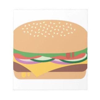 Cheeseburger Notepad