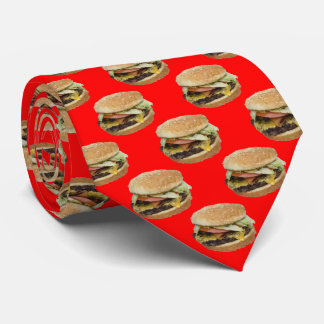 Cheeseburger on Red Tie