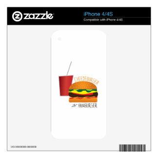 Cheeseburger or Hamburger Skin For The iPhone 4S