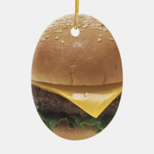 Cheeseburger Ornamento Para Arbol De Navidad